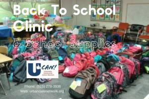 Back to School Clinic & School Supplies