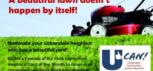 Yard of the Month - UCAN's Friends of the Parks Committee